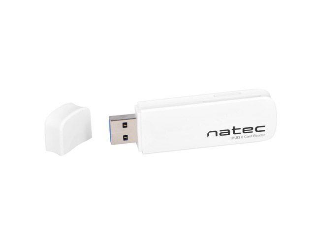Natec Mini Card Reader SCARAB SD/Micro SD, USB 3.0 White