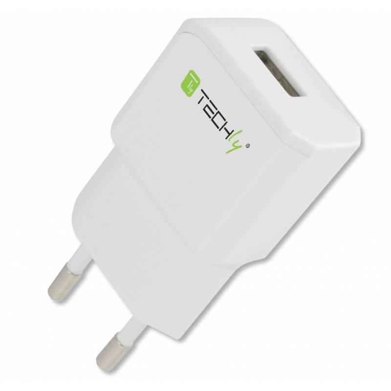 Techly Síťová nabíječka Slim USB 5V 2.1A bílá