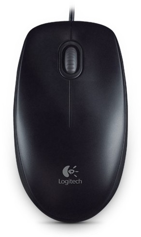 Logitech myš B100 Optical USB Mouse, Black