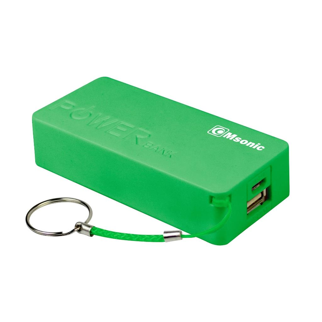 /Sada 10+1 zdarma/ MSONIC Power Bank 5000mAh, Li-Ion MY2580E zelený