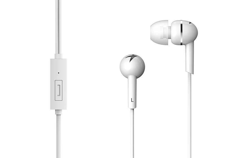 Genius sluchátka HS-M300 (s mikrofonem) bílé
