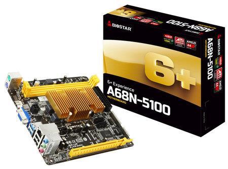 Biostar A68N5100, MiniITX, GbE LAN, DDR3 / 3L 1600, USB 3.0
