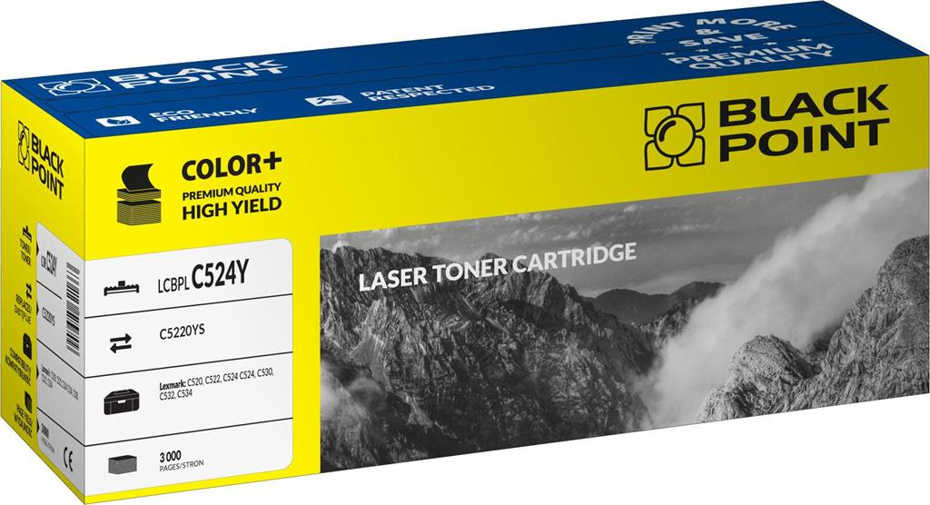 Toner Black Point LCBPLC524Y | yellow | 3000 pp | Lexmark | C5220YS