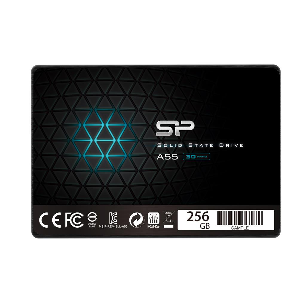 Silicon Power SSD Ace A55 256GB 2.5'', SATA III 6GB/s, 550/450 MB/s, 3D NAND