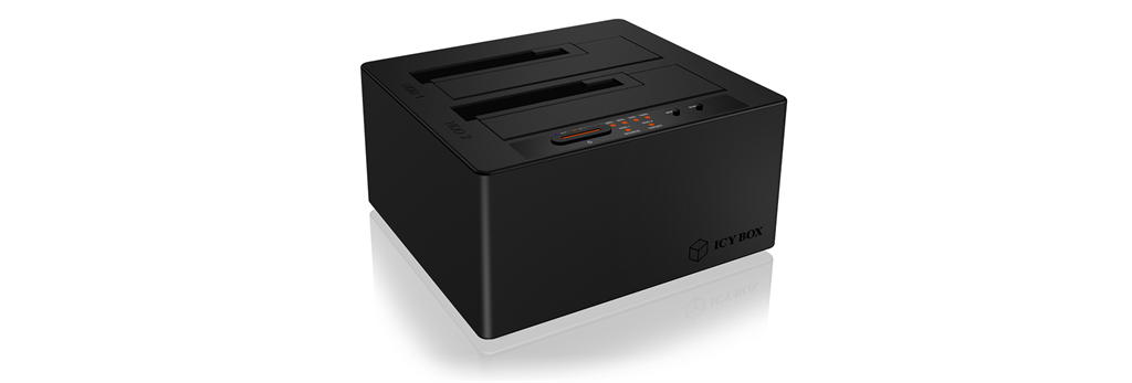 Docking and clone station for 2x 2,5''/3,5'' HDD, USB 3.1 Type-C, Led, Black