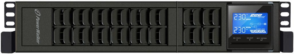 Power Walker UPS On-Line 3000VA, 19'' 2U,4x IEC,USB/RS-232,LCD,Terminal,Rack/Tow