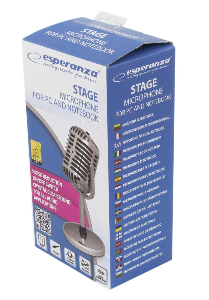 ESPERANZA EH181 STAGE - PC / notebookový mikrofon