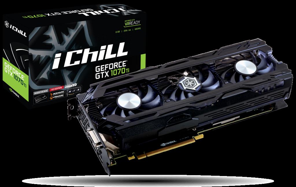 Inno3D iChill GeForce GTX 1070 Ti X3, 8GB GDDR5 (256 Bit), HDMI, DVI, 3xDP