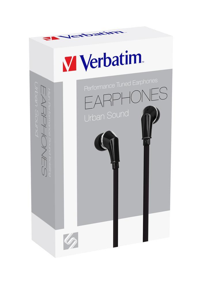 Verbatim sluchátka do uší (špunty), černé