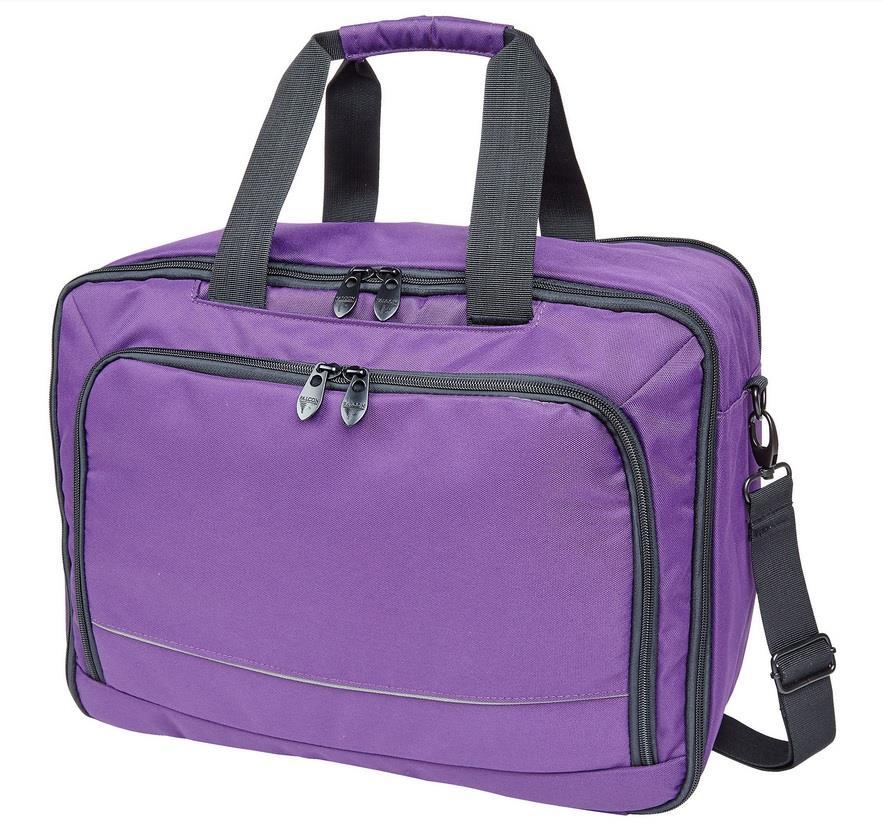 Falcon 3 Way Laptop Travel Bag 15,6'' purple