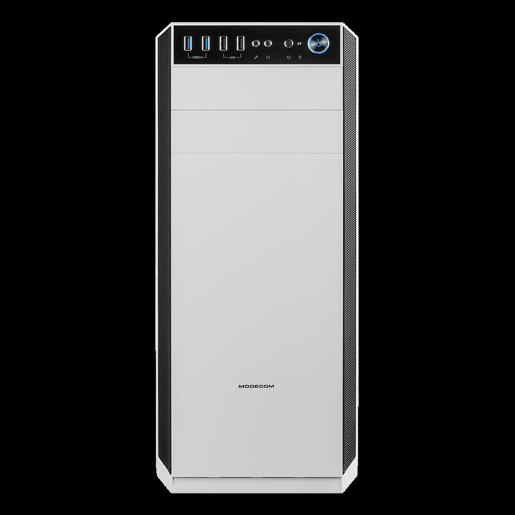MODECOM PC skříň OBERON GLASS 2F USB 3.0 bílá