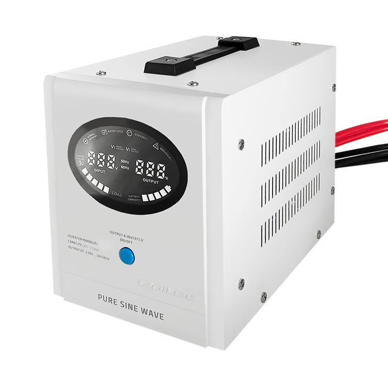 Qoltec Inverter/ Emergency power supply Pure Sine Wave 300W 500VA LCD white