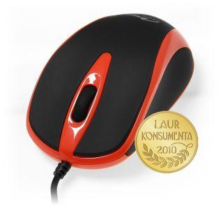 Media-Tech PLANO optická myš, 800 cpi, USB, červeno-černá