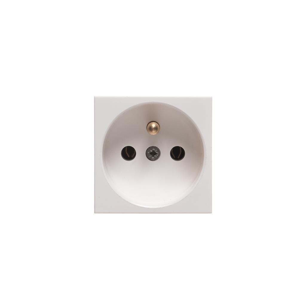 Netrack NBOX elektrická zásuvka 2M 1x2P + Z, bílá
