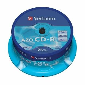 Verbatim CD-R [ cakebox 25 | 700MB | 52x | Crystal | DataLife+ AZO ]