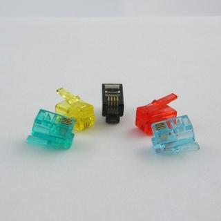 Netrack telefonní konektor RJ9/RJ10, 4p4c (100ks), barva MIX