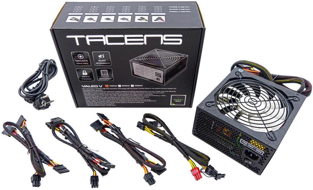 Zdroj Tacens ATX VALEO V 900W 80 PLUS SILVER, PRO SILENT Technology