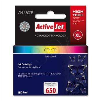 Inkoustová kazeta ActiveJet AH-650CR | Barevná | 21 ml | HP HP 650 CZ102AE
