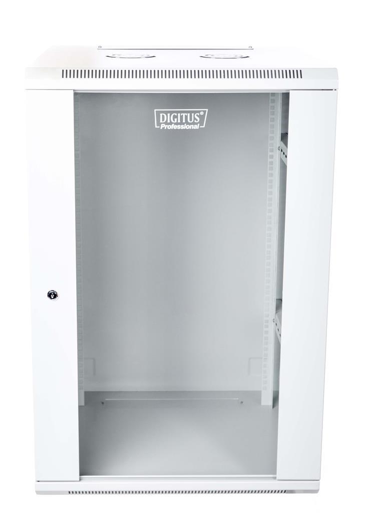 DIGITUS Nástěnný rozvaděč 19'' jednodílný 18U 600x600 RAL 7035