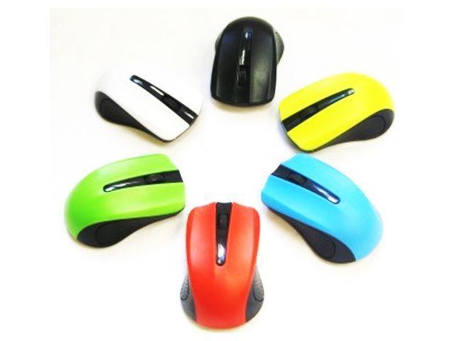 Gembird bezdrátová optická myš MUSW-101-G, 1200 DPI, nano USB, zelená