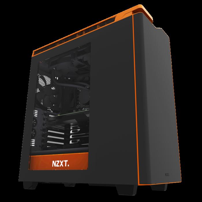 NZXT PC skříň H440 černo-oranžová s oknem