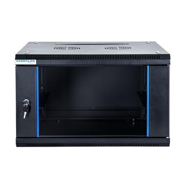 START.LAN závěsná skříně 19'' 6U 600x600mm - černá