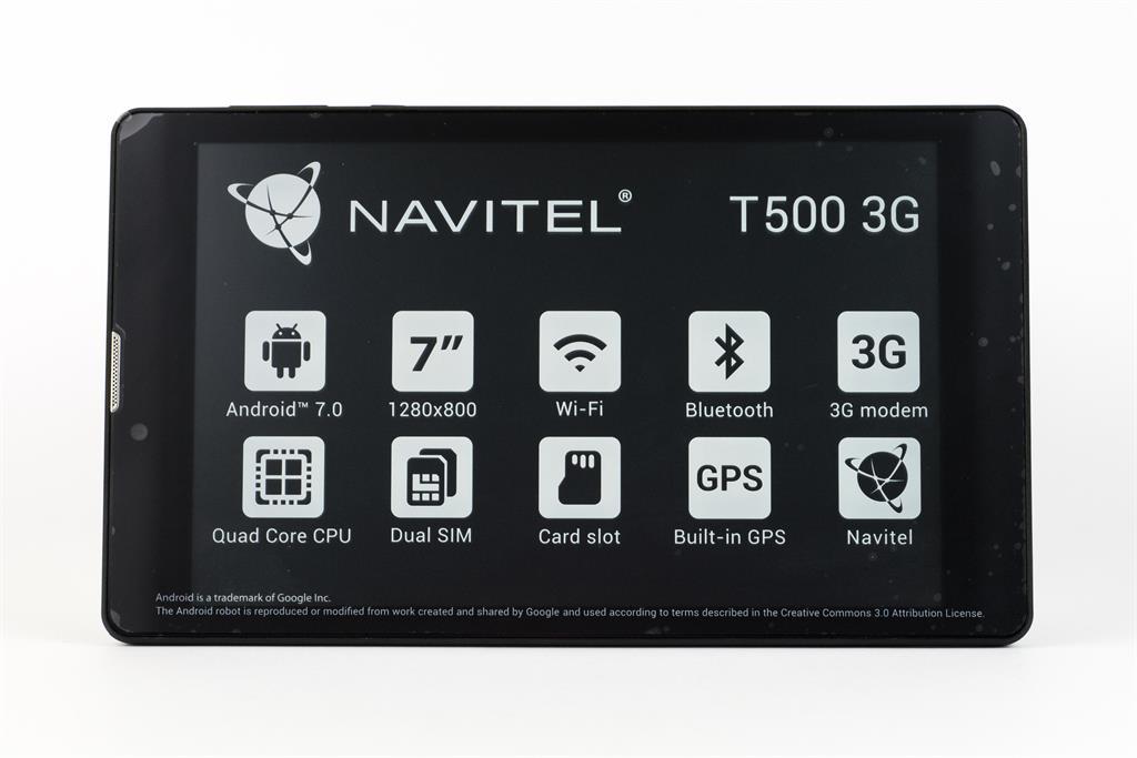 NAVITEL T500 3G 7'' tablet + Lifetime mapy Evropy