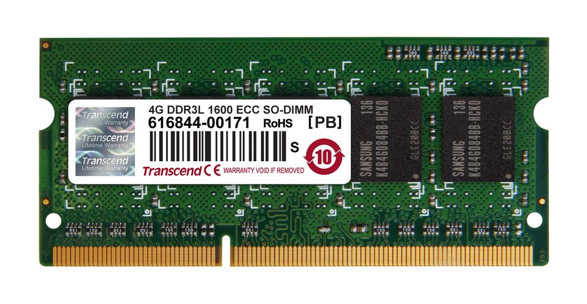 Transcend paměť SODIMM DDR3 4GB 1600MHz, 1Rx8, CL11