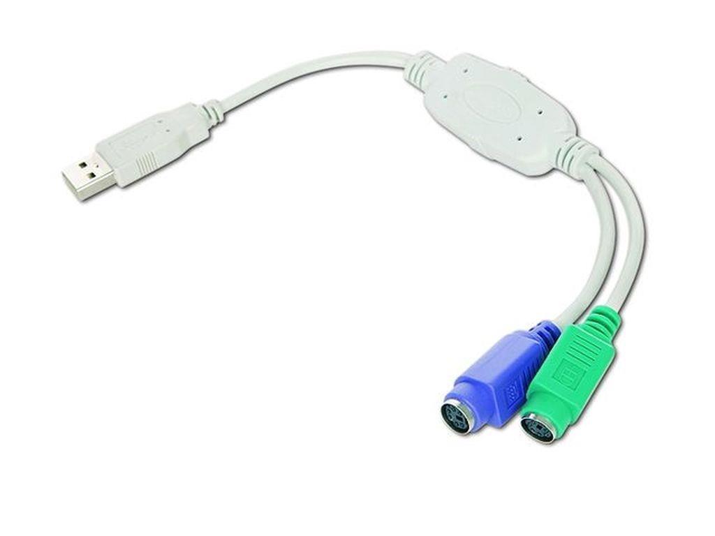 Gembird adaptér 2x PS/2 female na USB