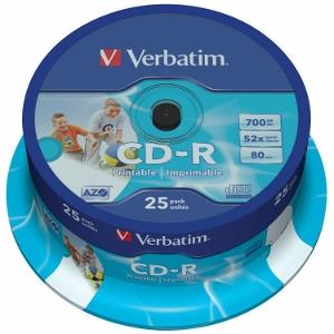Verbatim CD-R | cakebox 25 | 700MB | 52x | Retail printable | DataLife+ AZO ]