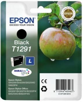 Inkoust Epson T1291 black | Stylus SX425W/SX525WD/BX305F/BX320FW/BX625FWD