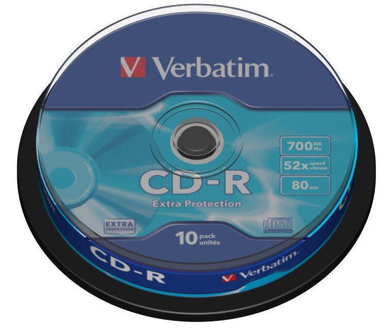 Verbatim CD-R [ cakebox 10   700MB   52x   DataLife ]