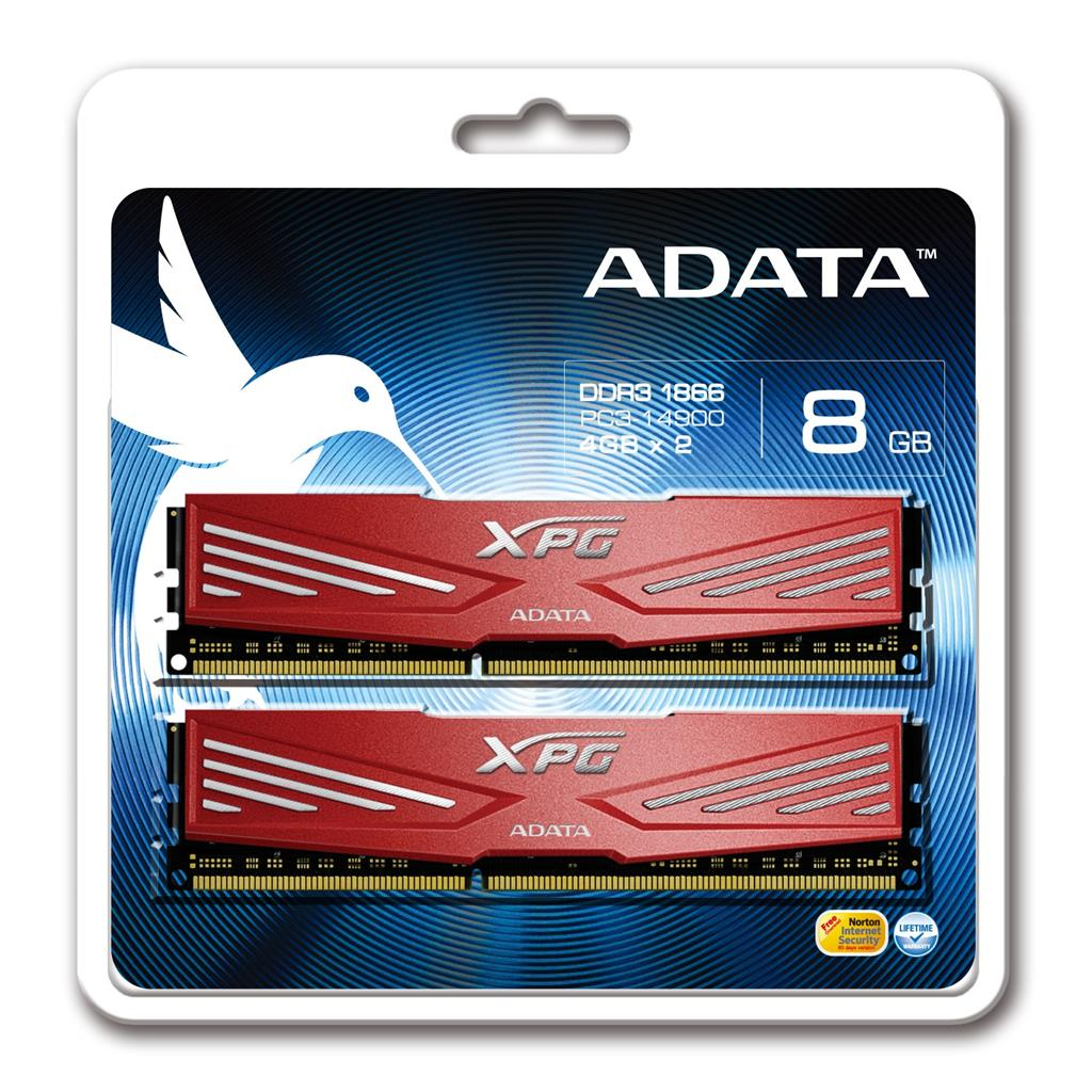 ADATA XPG V1.0 2x4GB 1866MHz DDR3 CL10 Radiator 1.5V , chladič
