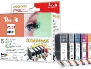 PEACH kompatibilní cartridge Canon PGI-5 / CLI-8 MultiPack, 2xBlack, Cyan, Magenta, Yellow, 26 ml, 4x14 ml