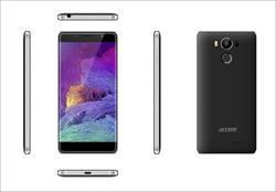 "Accent NEON černý, 5"" HD IPS, Quad-core 1,3GHz, Android 6.0, 16GB ROM+2GB RAM,16MP Camera, 2300mAh, LTE, BAZAR"