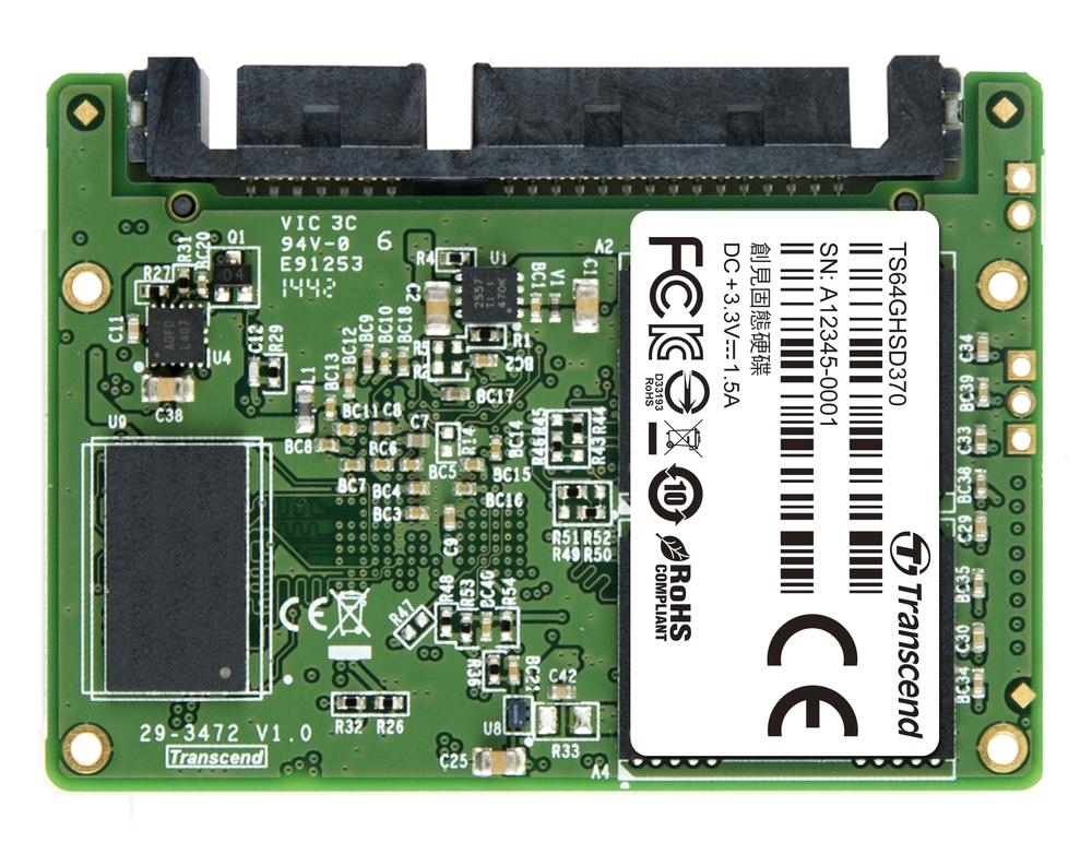 TRANSCEND HSD370 64GB Half-Slim SSD disk SATA III 6Gb/s, MLC, 560MB/s R, 400MB/s W