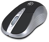 MANHATTAN Myš Viva, USB, optická, 2000 dpi, Bluetooth, černo-stříbrná