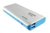 ADATA PowerBank PT100 - externí baterie pro mobil/tablet 10000mAh, bílá/modrá