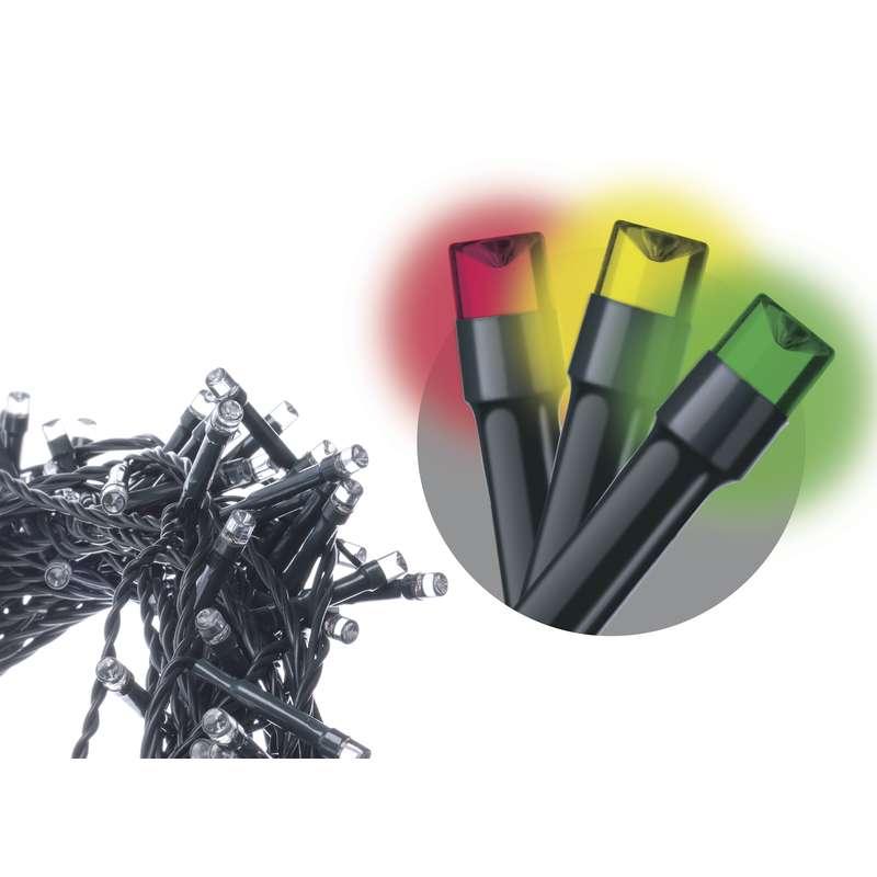 Emos LED dekorační řetěz 120 LED TIMER 12m IP44 MC, multicolor