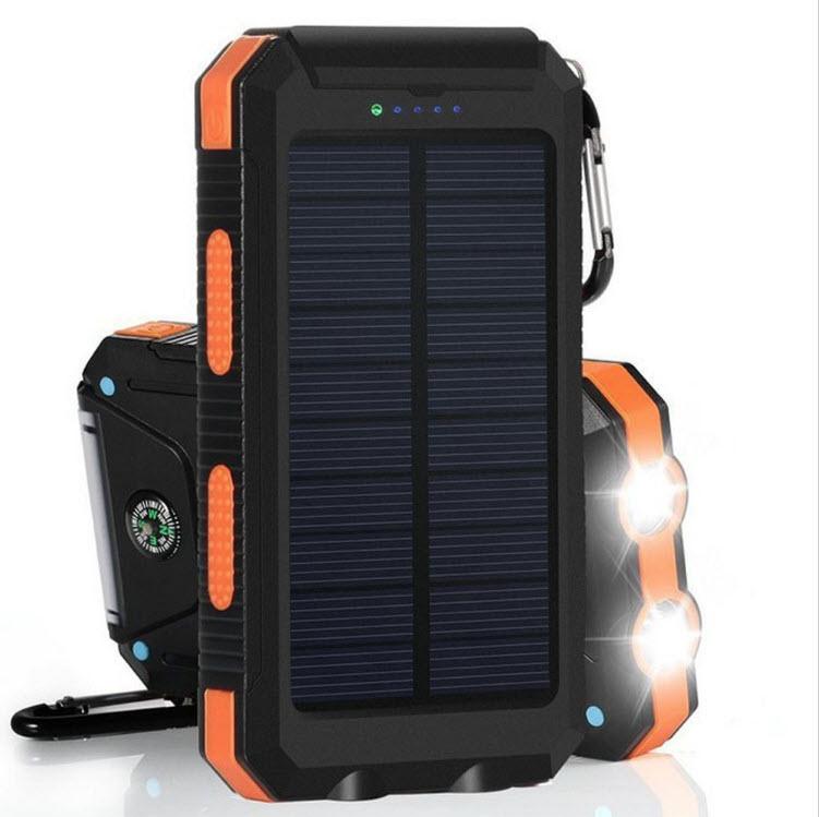 VIKING Solární Outdoorová Powerbanka Delta I 8000mAh, Černo-Oranžová