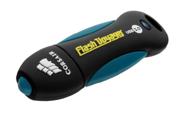 Corsair Flash Voyager USB 3.0 128GB;gumový povrch,nárazu a voděodolný,190/60MB/s