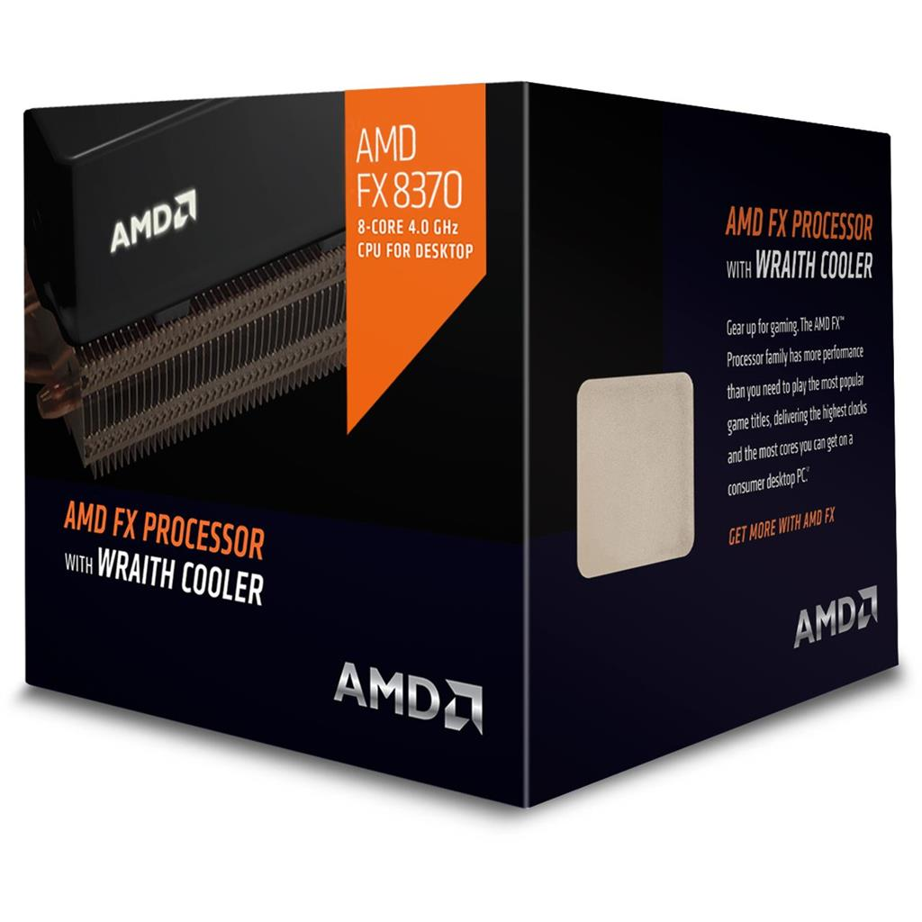CPU AMD FX 8-Core FX-8370 (Vishera) 4.0GHz (4.3GHz Turbo) 16MB cache 125W socket AM3+, BOX (Wraith cooler)