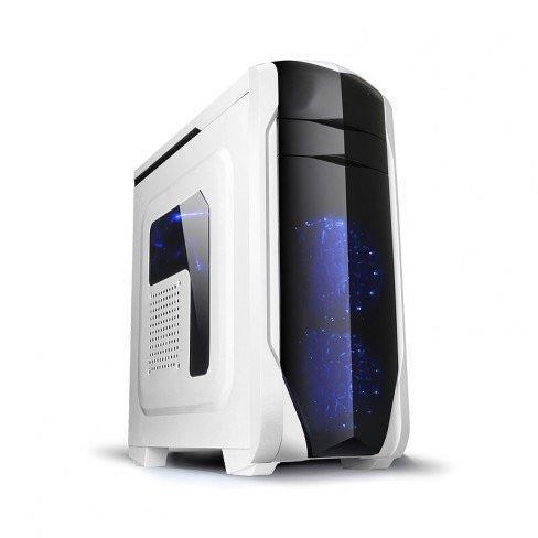 SPIRE skříň SPITZER 20, USB 3.0, gaming, bez zdroje, White