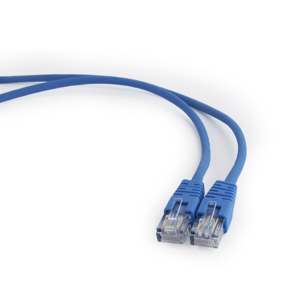 Gembird Patch kabel RJ45, cat. 5e, UTP, 0.5m, modrý
