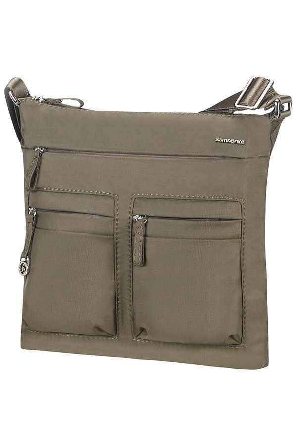 Flat shoulder bag SAMSONITE 88D28129 10,1'' iPAD, pockets, silver green