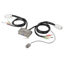Edimax KVM USB Audio přepínač, 2 porty, USB, integrované kabely
