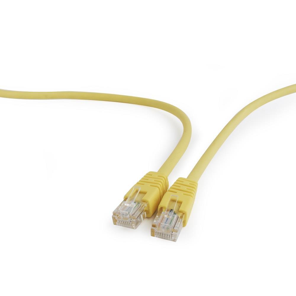 Gembird Patch kabel RJ45, cat. 5e, UTP, 0.5m, žlutý