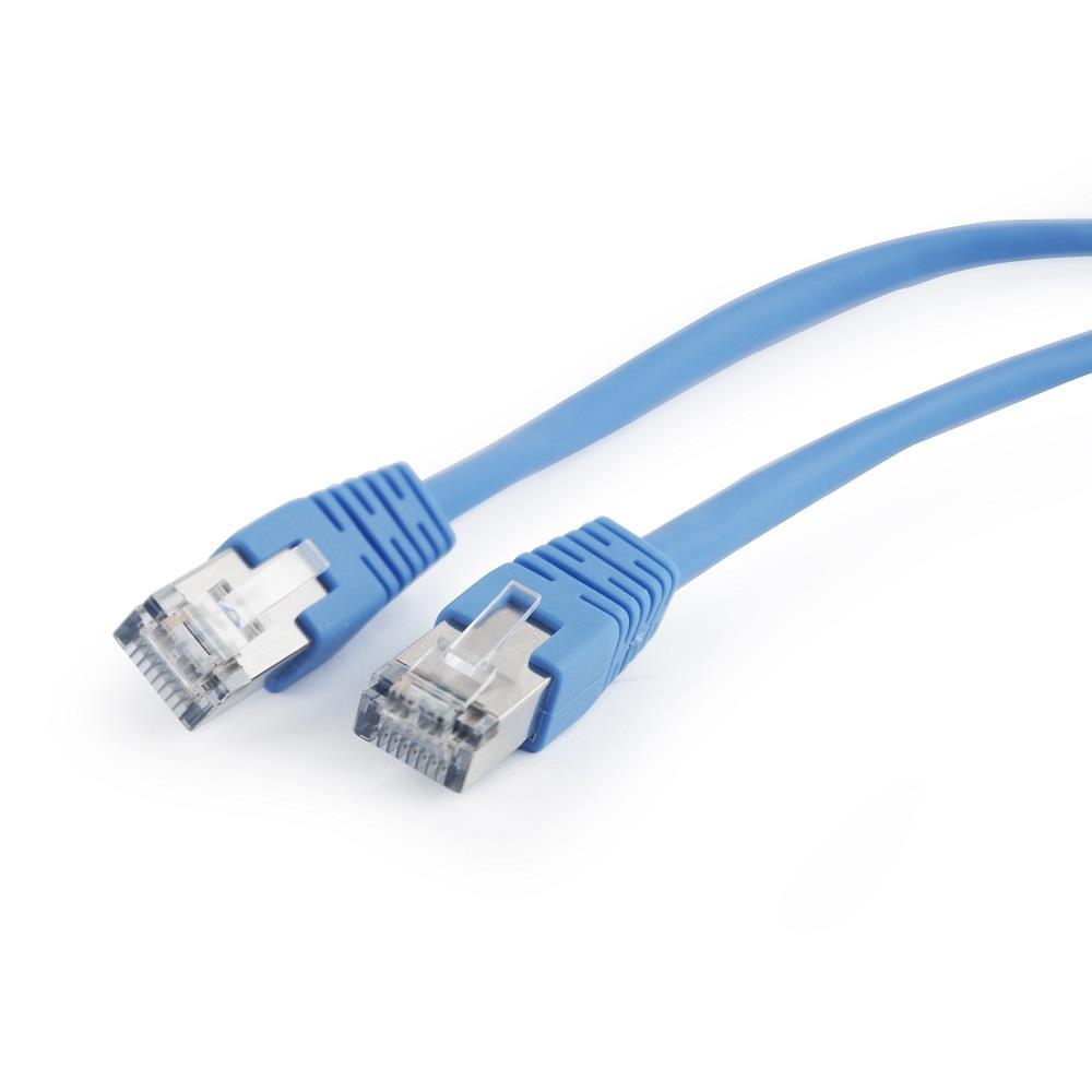 Gembird Patch kabel RJ45, cat. 5e, FTP, 0.5m, modrý