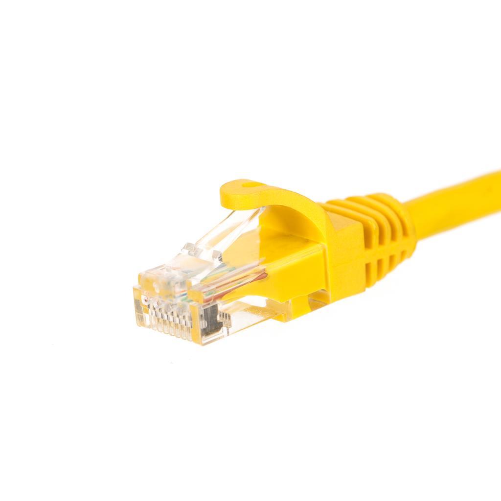 Netrack patch kabel RJ45, s litou ochranou, Cat 6 UTP, 0.5m žlutý