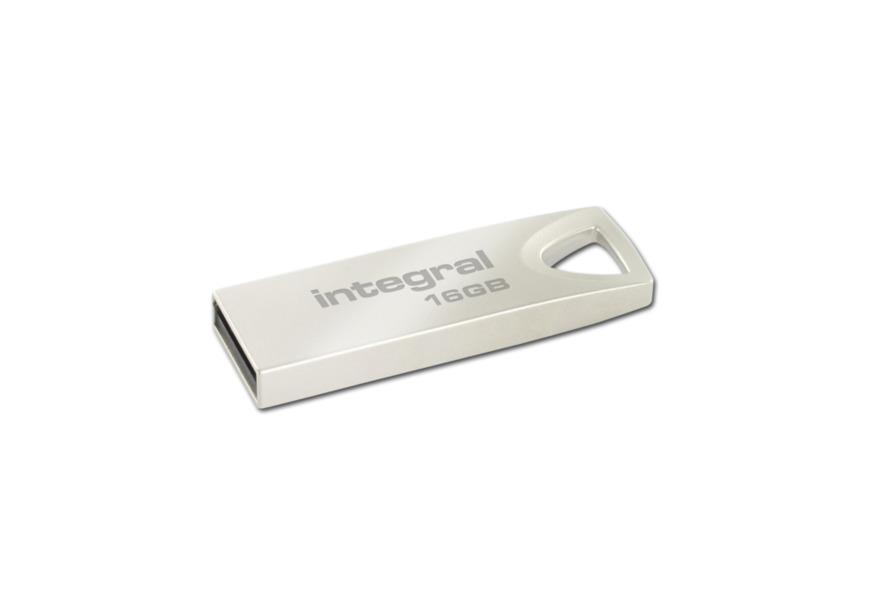 INTEGRAL ARC 16GB USB 2.0 flashdisk, kovový